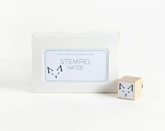 "Rubber Stamp ""Typography Cat"""