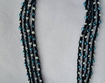Versatile Beaded and crocheted necklace