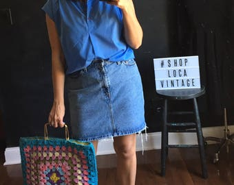 Vintage Levi's Denim mini skirt