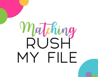 Rush add-on for any invitation or matching coordinate in the shop. Must be purchased with file wanted. 24 hour rush weekends holidays (RUSH)