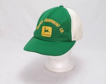 Vintage 1980s Trucker Ball Cap - Stanley Equipment Co. John Deere Tractors -  Hipster, Rockabilly, Farmer, Tractors, Accessories, Dad Hats