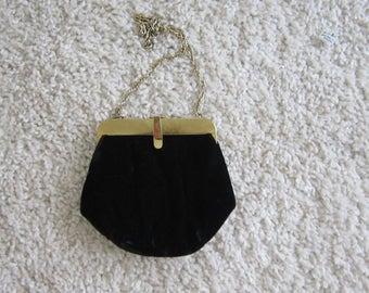 50's Ande Black Velvet Evening Bag