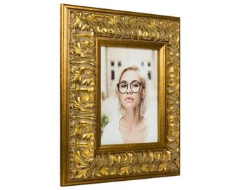 """Craig Frames, 8x10 Inch, Antique Gold Picture Frame, Barroco, 3.6"""" Wide (80800810)"""