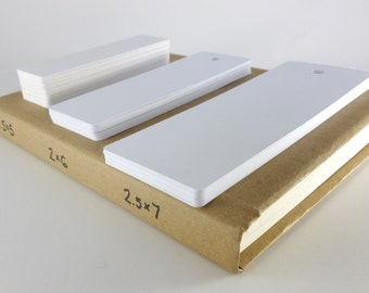 White Heavyweight Cardstock Plain Bookmark- Classroom DIY- Student Reading- Craft Project