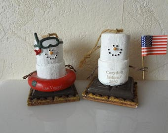 RARE* Las Vegas and Corydon Indiana Midwest Smores Ornaments