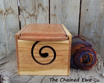 Yarn Box, Wooden Yarn Holder