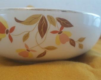 """Hall's Autumn Leaf 9"""" Salad Bowl"""