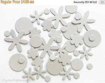 ON SALE Chipboard Die Cut Mixed Blossoms,  set of 38