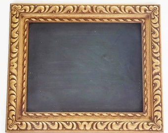 Vintage Ornate Gold Framed Chalkboard, Retro Syroco Blackboard, Rococo Hollywood Regency, Wedding Decor, Housewarming Gift