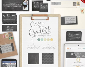 Marketing Kit - Complete Chalkboard Branding Template Kit - DIY Marketing Brand Templates Branding Package Marketing Set BDPG AAA