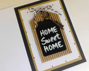 Home Sweet Home card - Housewarming Greeting Card - new Home card - new house card - new condo card - new apt card
