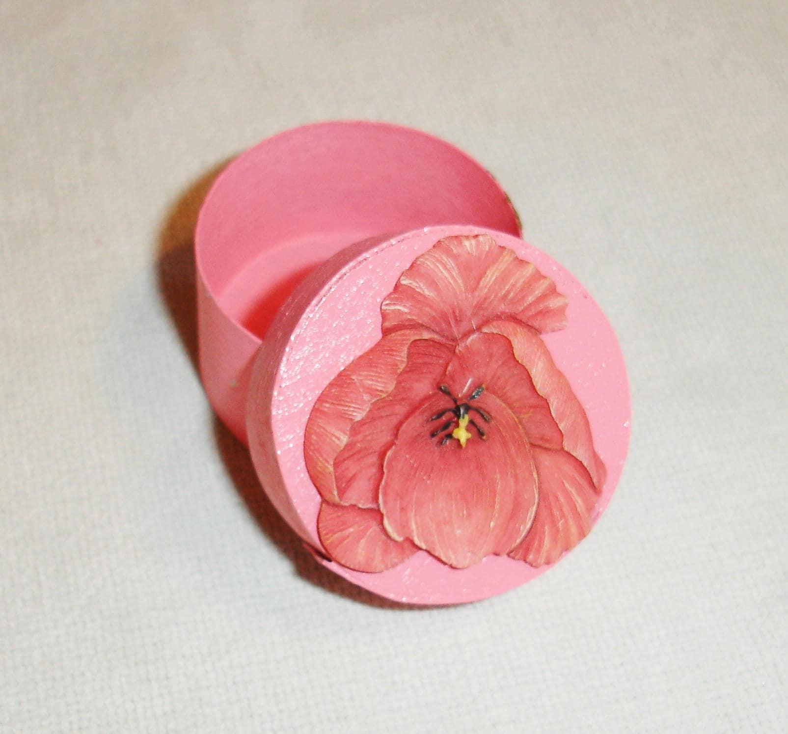 Pink Floral Wedding Ring Box [E10261624442685183M] - $7.00 ...