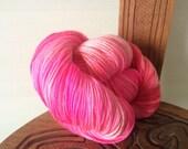 "Hand Dyed Merino 4ply Yarn ""Soda Pop"" 100g ~400m"