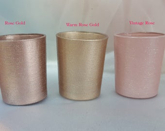 50 Per Votive Glass Candle Holders For Weddings And Parties Hint Of Glitter Bulk