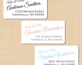 Calligraphy Address Labels, Change all colors! (2.375x1.25): Text-Editable in Microsoft® Word, Printable on Avery® 6871, Instant Download