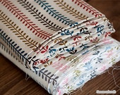 Cotton Linen Fabric Olive branch Fabric,Colorful Style, Printing and dyeing, Colorful Floral Cotton Linen Fabric 1/2 Yard (QT1101)
