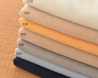 Yarn dyed Wool Fabric, Woollen cotton Fabric,Cashmere - Winter Clothing fabric, Soft Constraint, Thickness Fabric 1/2 yard (QT1029)