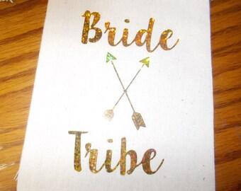 Customized Wedding Favor Bags Holographic Foil Bride Tribe Bag Bachelorette Party Bridal Party Bride Tribe Bag