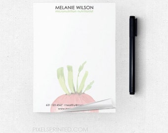 """dietitian nutritionist notepads - 4""""x5.5"""" - full color front - FREE UPS ground shipping"""