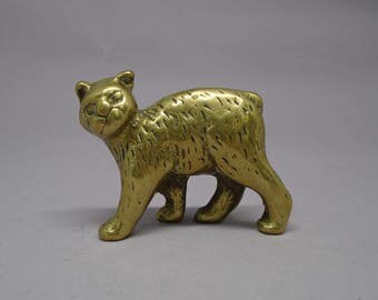 Brass cat collectable home decor figure