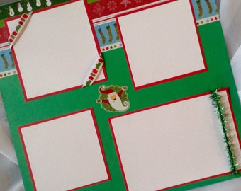 Christmas Scrapbook Pages - 12X12 Premade Scrapbook Pages