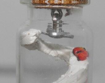 Boys Toy Room Glass Vial Pendant