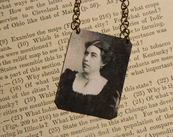 Molly Brown Necklace Titanic Womens History  mixed media jewelry