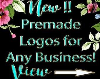 PREMADE LOGOS for ANY Business!-Predesigned Logo-Photography Logo-Event Planner-Consulting Logo-Interior Design Logo-Business Branding
