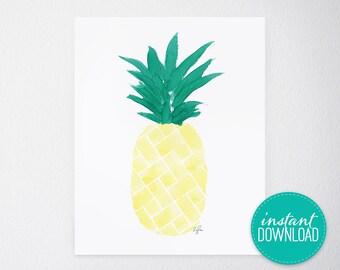 Island Citrus Yellow Printable