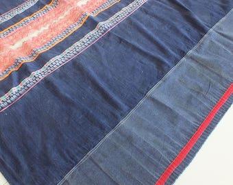 4.2 yards, Hmong  hemp Vintage fabrics and  textiles - Handwoven hemp-ethnic textiles from thailand