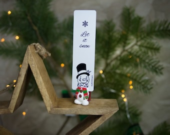 MYBOOKMARK // Snowman bookmark // Handmade and crafted with love // Unique and creative gift //