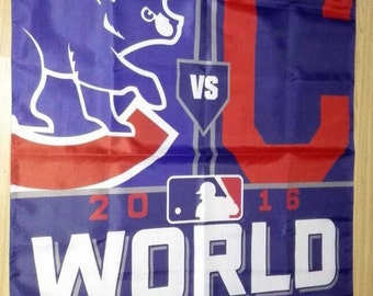Chicago Cubs World Series Champions 3 X 5 Feet  Flag Banner MLB Baseball Fan 2016