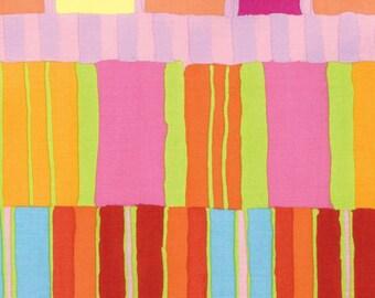 Artisan by Kaffe Fassett for Free Spirit - Layered Stripe - Orange - FQ - Fat Quarter Cotton Quilt Fabric  1116