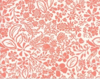 Early Bird by Kate Spain for Moda - Floral - Splendor - Orange - Peach - 1/2 Yard Cotton Quilt Fabric