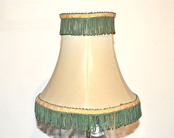 Chic But Shabby Fringed 1940s Lamp Shade -- Lovable and Plucky
