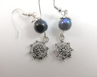 Spiderweb earrings