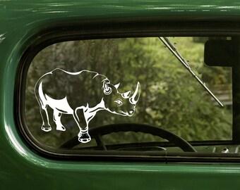 Rhino Decal, Rhino Sticker, Rhinoceros Decal, Car Decal, Vinyl Sticker, Car Stickers, Laptop Sticker, Vinyl Decal
