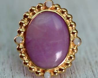 Sugilite & Opal Ring