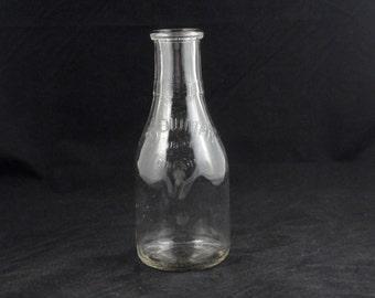 Vintage BOWMAN DAIRY Company Glass Milk Bottle 1948 Quart Chicago ILL