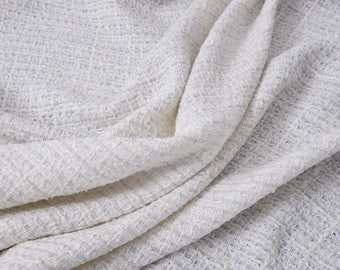 """ON SALE Loose coarse fabric, tweed fabric, 55"""" fashion fabric for suits, jackets, by the yard"""