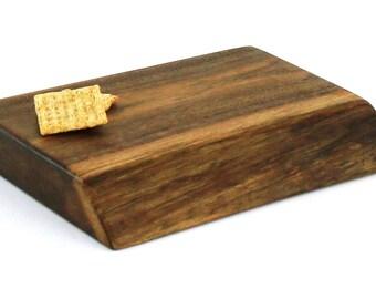"Thick Natural Edge Cheese Board - Black Walnut - Ready to Ship - 10""x8""x1-1/2"""
