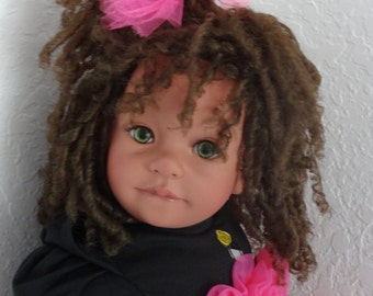 "Lightly Reborn Biracial/Ethnic 23"" Toddler Girl Doll ""Zebra Glam Daniella"""
