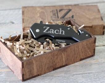Personalized Knife - Custom Groomsmen Knife Box - Engraved Pocket Knife - Best Man Gift - Dad Gift - Boyfriend Gift - ANY QUANTITY
