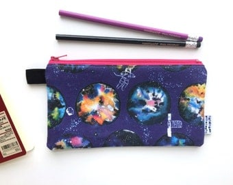 Space Oddity Divided Pencil Case (handmade philosophy's pattern)