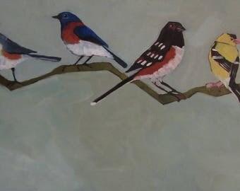 Birds Of Oregon Original Oil Painting