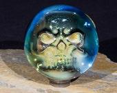 Fumed Skull Borosilicate Marble 2.2inches