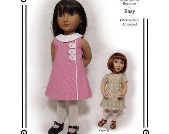 "PDF Pattern KDD23-16 ""Town & Country""- An Original KeepersDollyDuds Design,16"" Doll Clothes Fits A Girl For All Time Dolls"