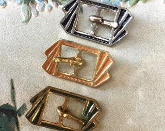 3 Art Deco Era Tiny Buckles