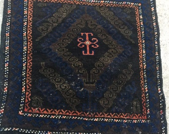 Semi Antique Hand Knotted Wool Persian Rug ~ Unique Weave ~ 2x2
