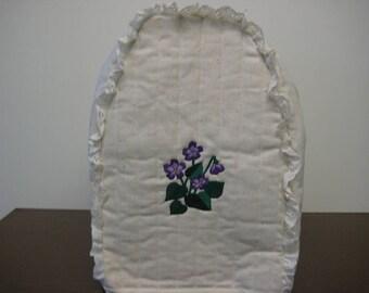 KA Mixer Cover embroidered violets design